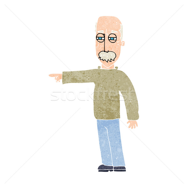 cartoon old man gesturing Get Out! Stock photo © lineartestpilot