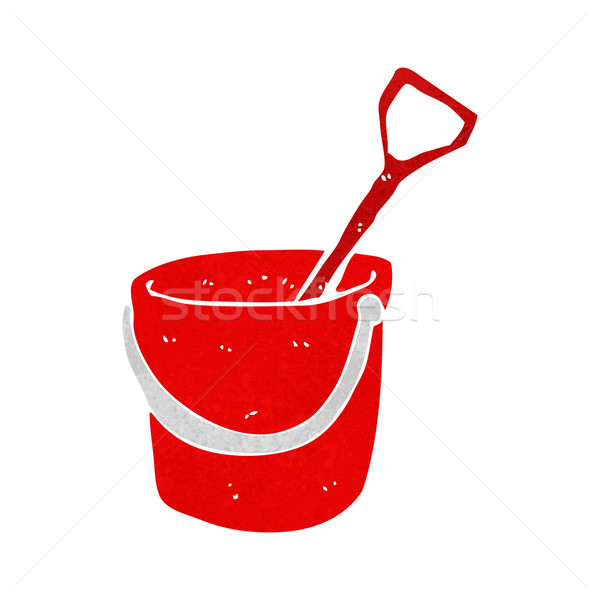 cartoon bucket and spade Stock photo © lineartestpilot