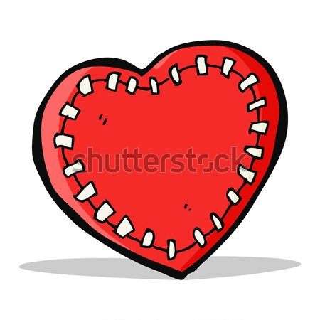 cartoon stitched heart Stock photo © lineartestpilot