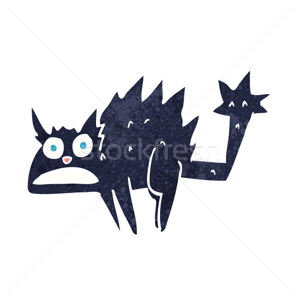 cartoon frightened black cat Stock photo © lineartestpilot