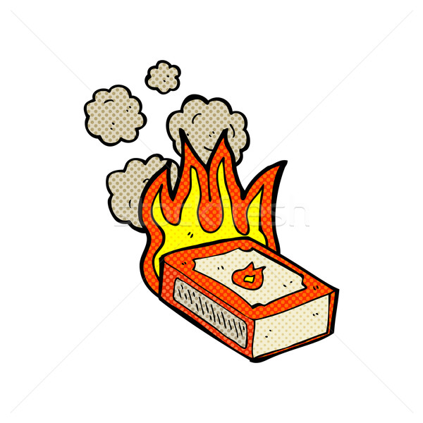 comic cartoon pack of matches Stock photo © lineartestpilot
