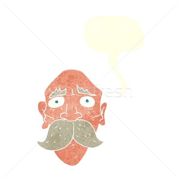 Cartoon triste viejo bocadillo mano hombre Foto stock © lineartestpilot