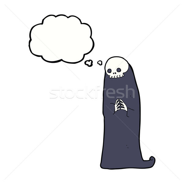 cartoon halloween ghoul with thought bubble Stock photo © lineartestpilot
