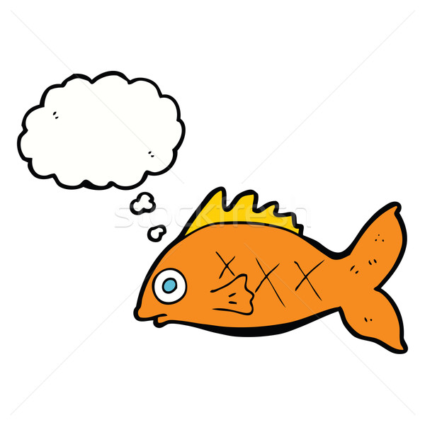 漫画 魚 思考バブル 手 デザイン 動物 ストックフォト © lineartestpilot