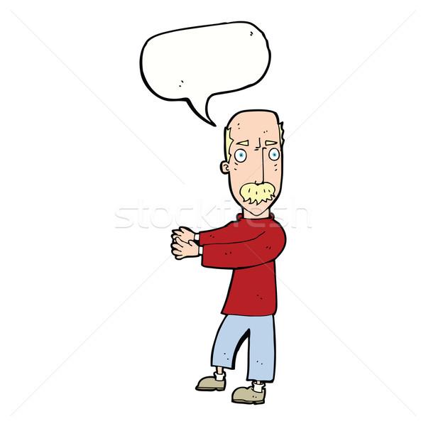 Stock fotó: Rajz · férfi · magyaráz · szövegbuborék · kéz · terv