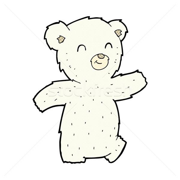 Cute fumetto cartoon orso polare retro Foto d'archivio © lineartestpilot