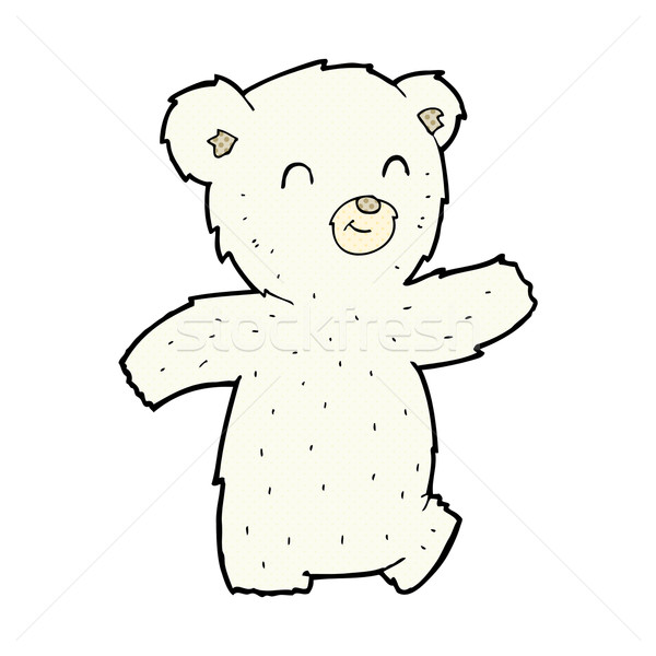 Cute cómico Cartoon oso polar retro Foto stock © lineartestpilot