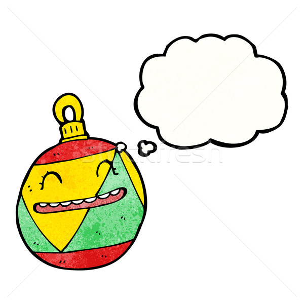 christmas bauble cartoon character Stock photo © lineartestpilot