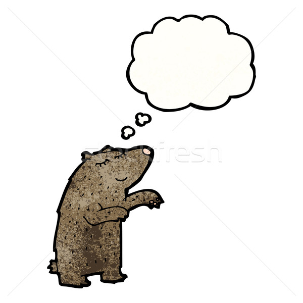 cartoon bear with though bubble Stock photo © lineartestpilot