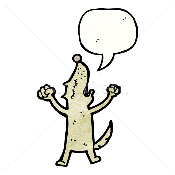 howling dog cartoon Stock photo © lineartestpilot
