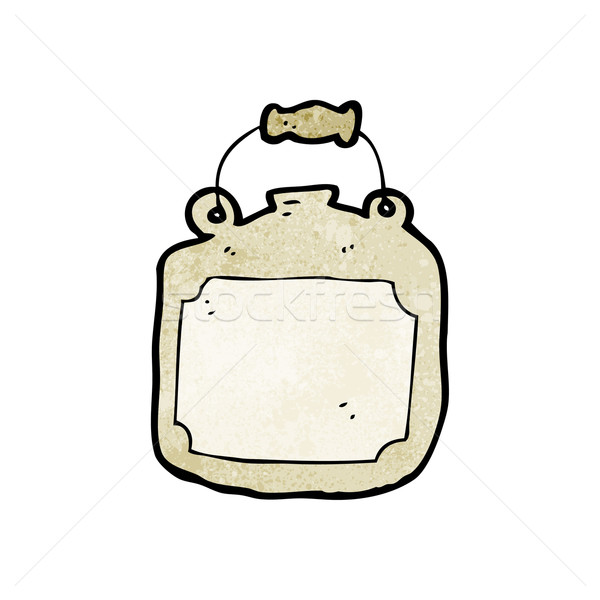 old clay bottle cartoon Stock photo © lineartestpilot