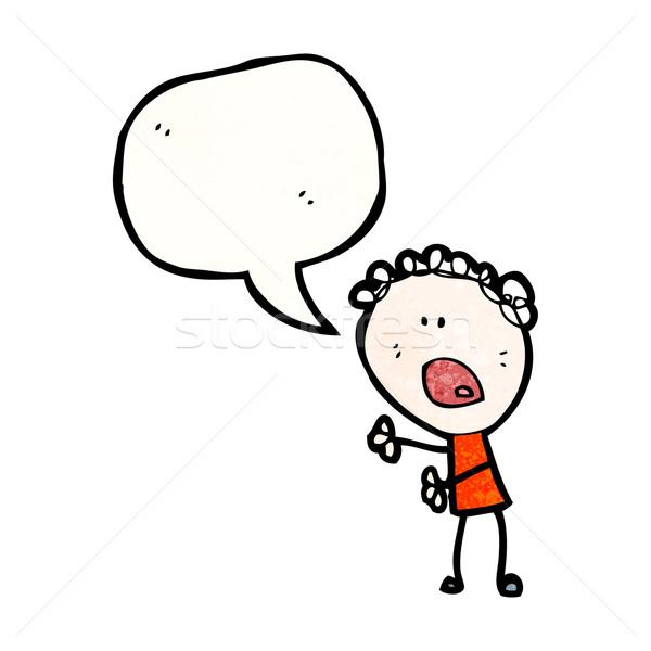 cartoon complaining woman Stock photo © lineartestpilot