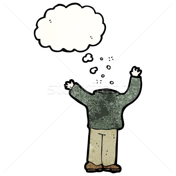 cartoon headless man Stock photo © lineartestpilot