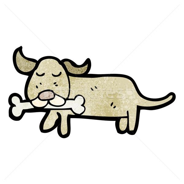 cartoon little dog with bone Stock photo © lineartestpilot