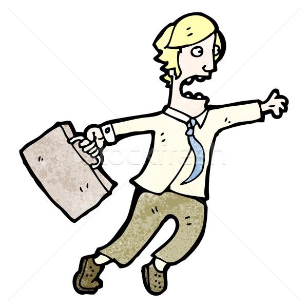 cartoon man rushing around Stock photo © lineartestpilot