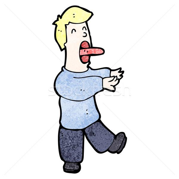 cartoon sleepwalking man Stock photo © lineartestpilot