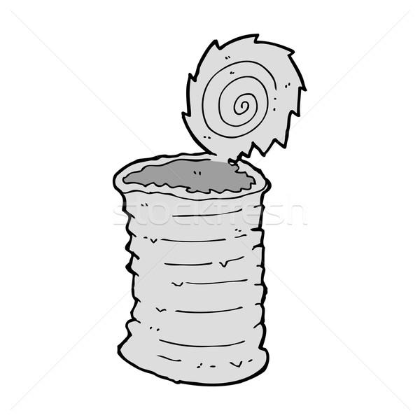 Desenho animado velho estanho lata projeto arte Foto stock © lineartestpilot