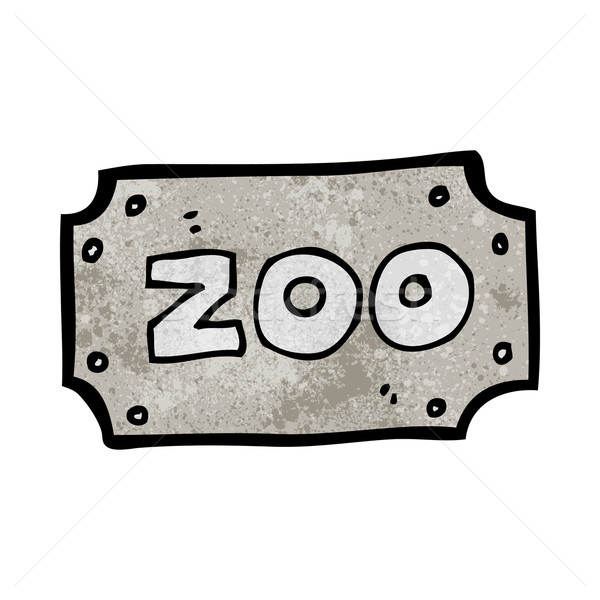 Rajz állatkert felirat kéz terv őrült Stock fotó © lineartestpilot