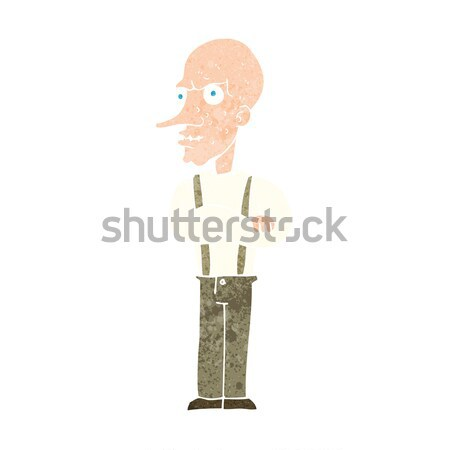 cartoon mean old man Stock photo © lineartestpilot