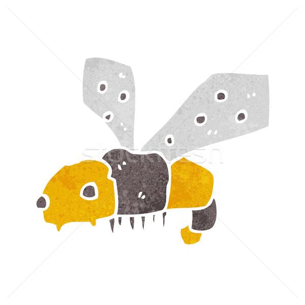Cartoon bee hand ontwerp dieren gek Stockfoto © lineartestpilot
