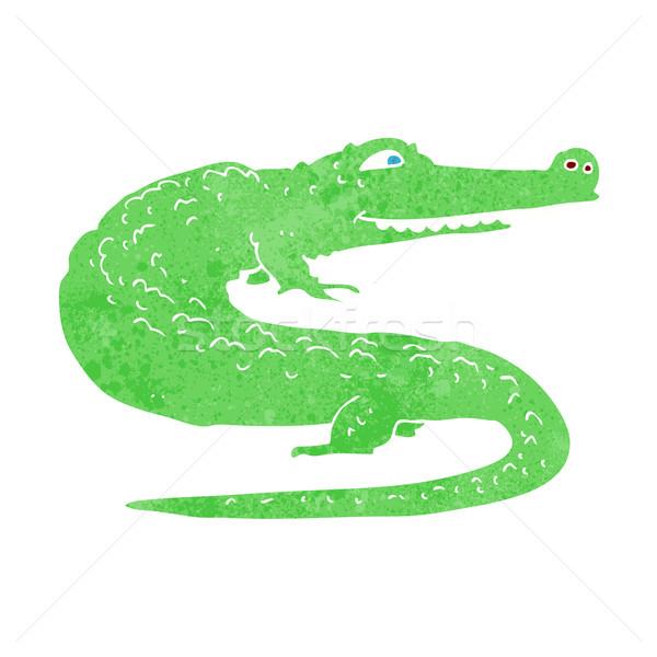 Rajz krokodil kéz terv állatok őrült Stock fotó © lineartestpilot