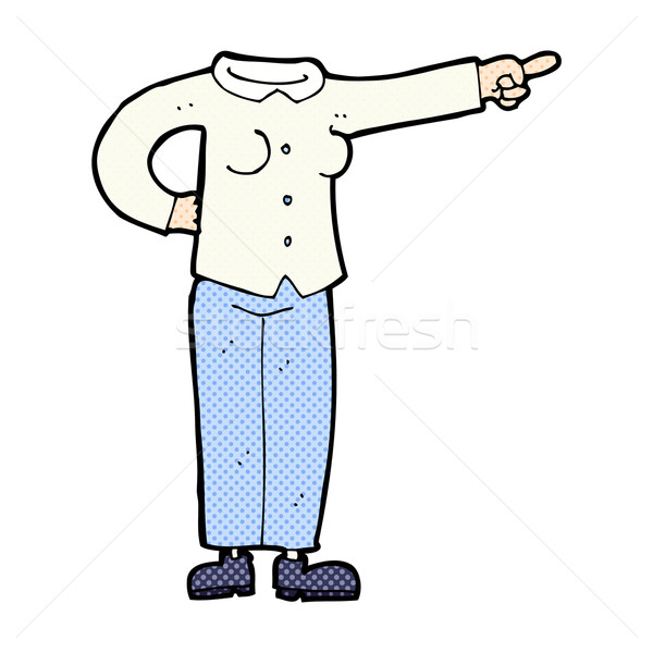 comic cartoon pointing body (mix and match comic cartoons or add Stock photo © lineartestpilot