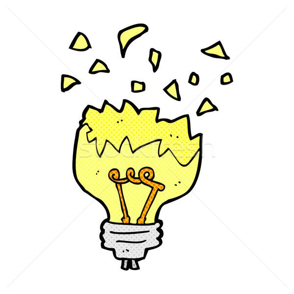 comic cartoon light bulb exploding Stock photo © lineartestpilot