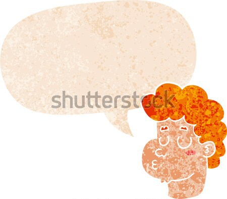 cartoon boy with ugly growth on head with thought bubble Stock photo © lineartestpilot