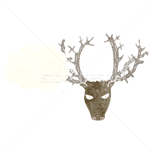 cartoon stag head with thought bubble Stock photo © lineartestpilot