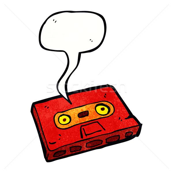 Cartoon kaseta taśmy dymka strony projektu Zdjęcia stock © lineartestpilot