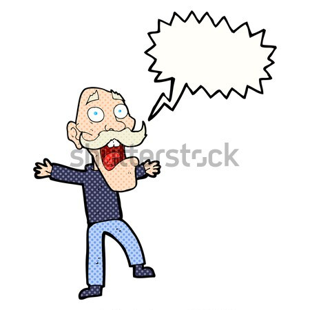 comic cartoon annoyed old man Stock photo © lineartestpilot