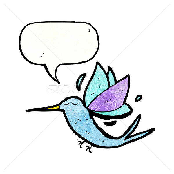 Cartoon hummingbird текстуры стороны счастливым рисунок Сток-фото © lineartestpilot