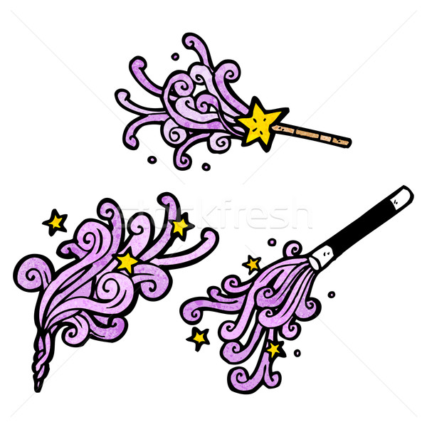 cartoon magic wands casting spells Stock photo © lineartestpilot