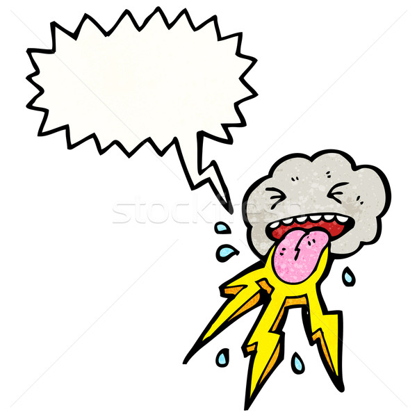 cartoon cloud with speech bubble Stock photo © lineartestpilot