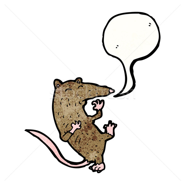 Cartoon rat hartaanval hart retro tekening Stockfoto © lineartestpilot