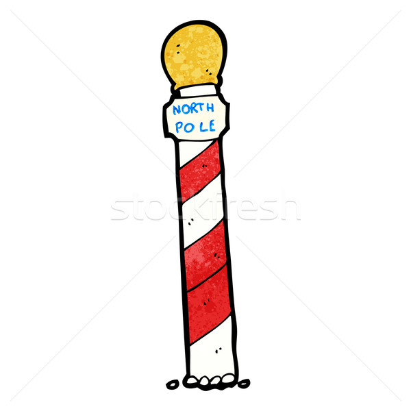 striped north pole cartoon Stock photo © lineartestpilot