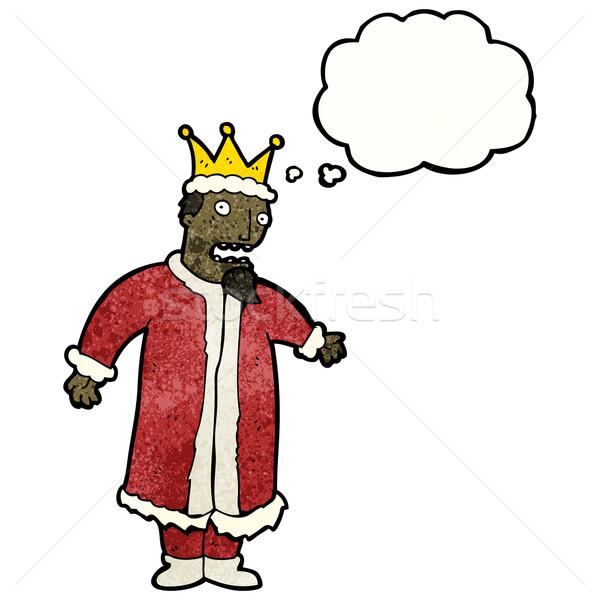 Cartoon нервный царя ретро шаре рисунок Сток-фото © lineartestpilot