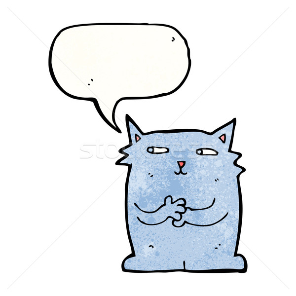 smug cat cartoon Stock photo © lineartestpilot