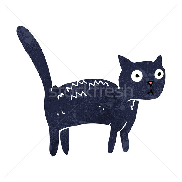 cartoon frightened cat Stock photo © lineartestpilot