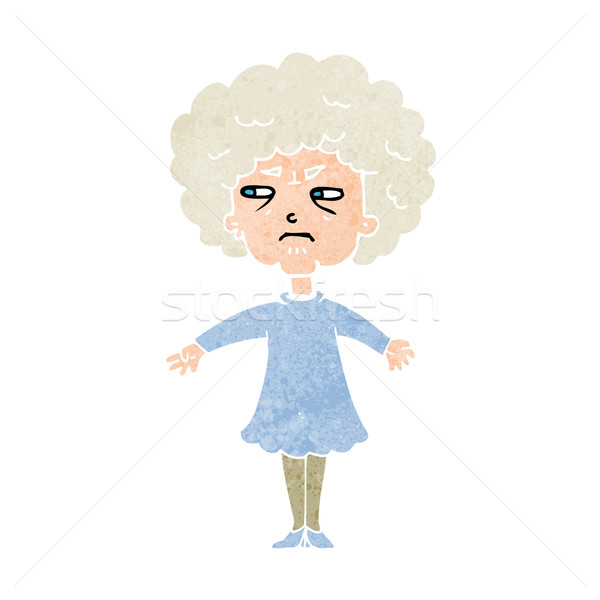 Cartoon amer vieille femme femme main design Photo stock © lineartestpilot