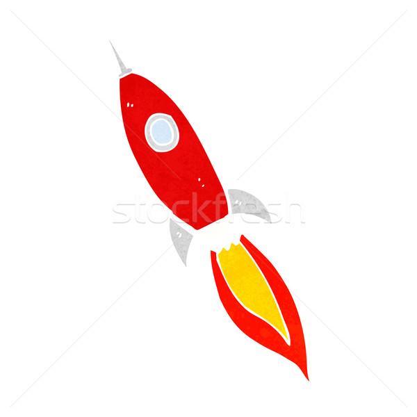 Cartoon statek kosmiczny projektu sztuki retro funny Zdjęcia stock © lineartestpilot