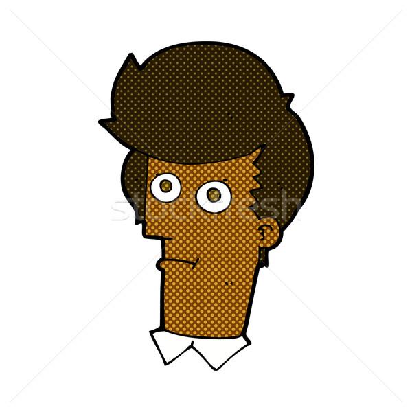 comic cartoon staring face Stock photo © lineartestpilot