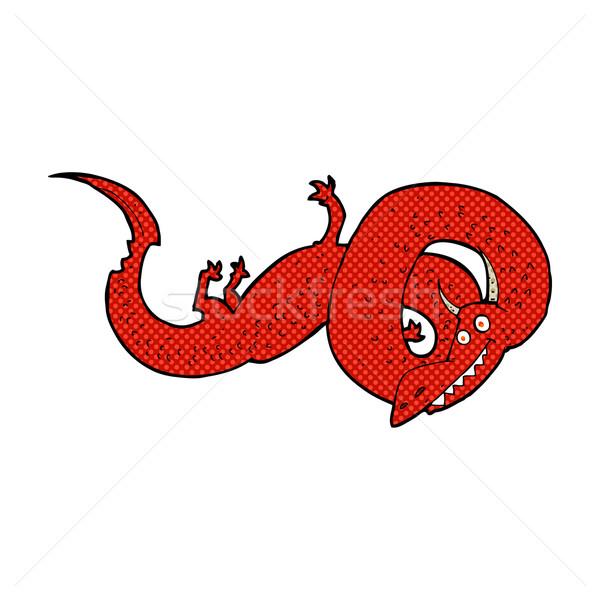 комического Cartoon Китайский дракон ретро стиль Сток-фото © lineartestpilot