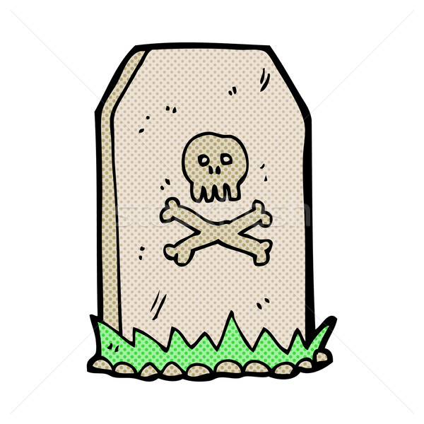 comic cartoon spooky grave Stock photo © lineartestpilot