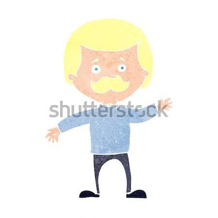 Cartoon человека глазах мысли пузырь стороны дизайна Сток-фото © lineartestpilot