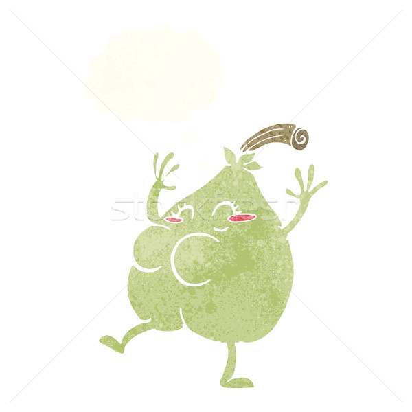Nice груши Cartoon мысли пузырь продовольствие стороны Сток-фото © lineartestpilot