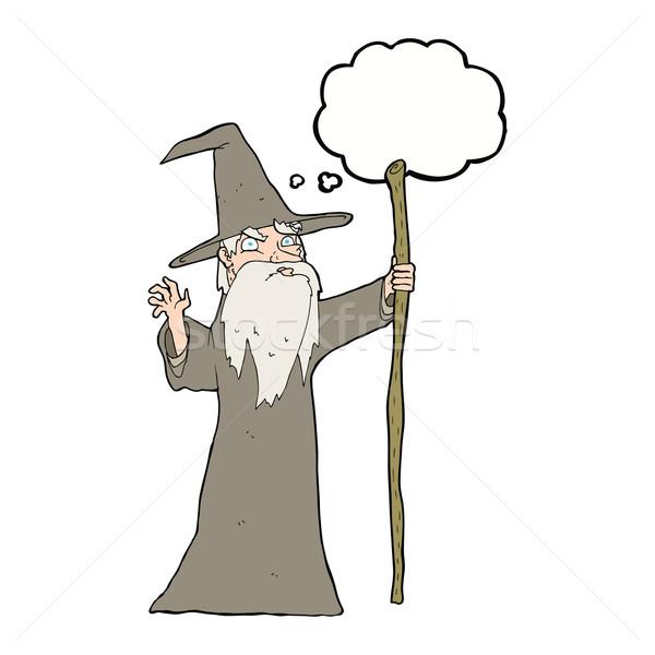 Cartoon старые мысли пузырь стороны человека дизайна Сток-фото © lineartestpilot