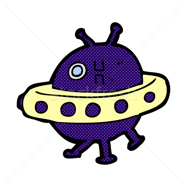 comic cartoon UFO Stock photo © lineartestpilot