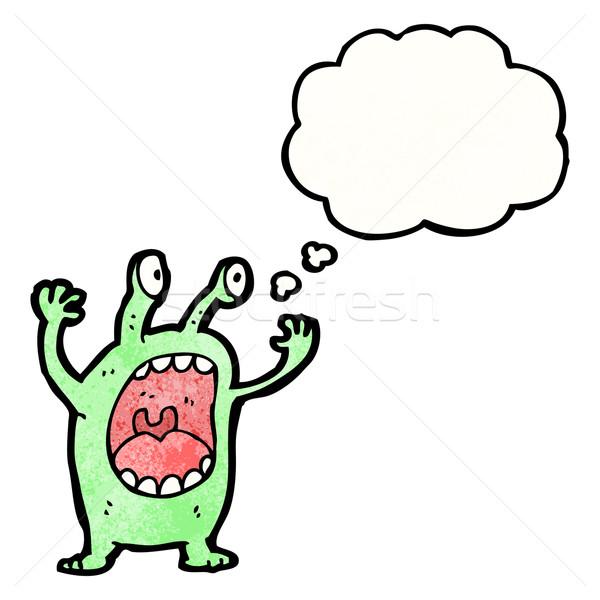 Desenho animado alienígena textura mão feliz desenho Foto stock © lineartestpilot