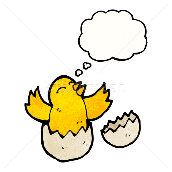 hatching chick with thought bubble Stock photo © lineartestpilot